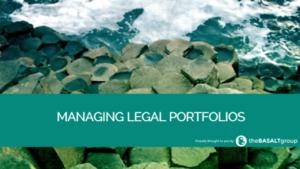 Managing Legal Portfolios