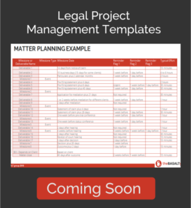 Legal Project Management Template