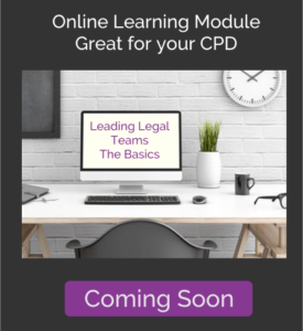 Leading Legal Teams - The Basics - Online Learning Module