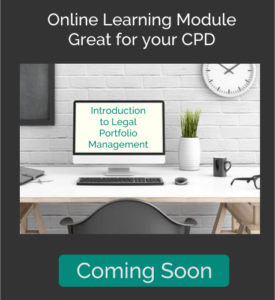 Introduction to Legal Portfolio Management - Online Learning Module