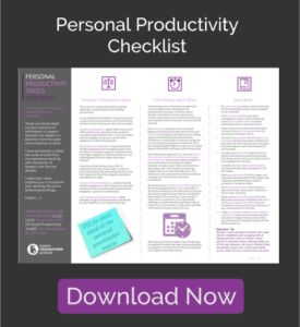 The Basalt Group - Personal Productivity Checklist