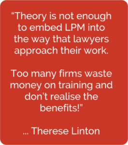 Theory is not enough to embed ... LPM quote from Therese Linton